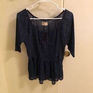 Hollister blouse in navy